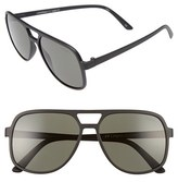 Le Specs Women's Cousteau 58Mm Sunglasses - Matte Black