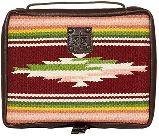 STS Ranchwear Buffalo Girl Serape Tablet Book Cover (Maroon/Pink/Green) Bags