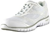 Propet Travellite Women D Round Toe Synthetic White Running Shoe.