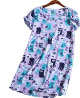 Amoy-Baby Women's Cotton Blend Floral Nightgown Casual Nights XTSY108-XL
