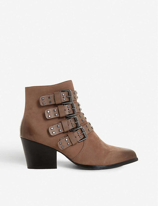 Bertie Paramont buckle-embellished leather boots