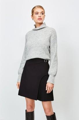 Karen Millen Buckle Detail Pleated Mini Skirt