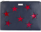 Stella McCartney embroidered star clutch bag - women - Polyester/Polyurethane - One Size