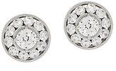 Diamonique 3.40 cttw Round Halo Stud Earrings Platinum Clad