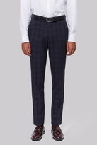 Moss Bros Skinny Fit Navy Check Pants