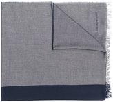 Emporio Armani bicolour fringed scarf