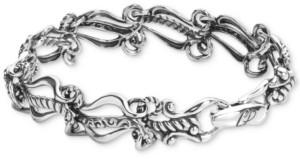 Carolyn Pollack Ornate Link Bracelet in Sterling Silver