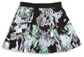 Milly Minis Toddler's, Little Girl's & Girl's Painterly Floral Printed Faille Skirt