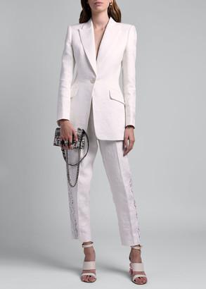 Alexander McQueen Damask Linen Blazer
