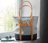 Pottery Barn Rive Tote - Taupe/Cognac