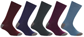 John Lewis Fashion Heel And Toe Socks, Pack Of 5, Multi