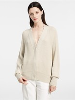 Calvin Klein Ribbed Cashmere Oversized Cardigan
