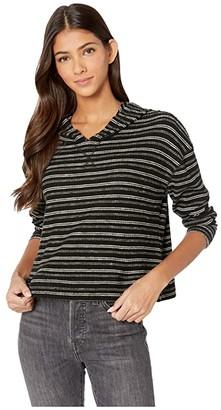 Billabong Brunch Date Hoodie (Black Multi) Women's Sweatshirt