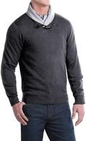 Toscano Toggle Shawl Collar Sweater - Merino-Acrylic (For Men)