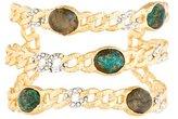 Alexis Bittar Labradorite, Turquoise & Crystal Openwork Cuff