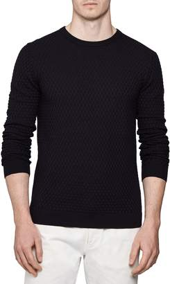 Reiss Basketweave Stitch Crewneck Pullover