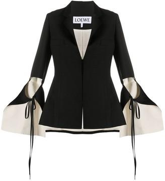 Loewe Tie-Cut Panel Sleeve Jacket