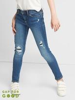 High stretch destructed super skinny jeans