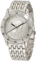 August Steiner Men's CN004S-AS Round Kennedy Half Dollar -Tone Bracelet Watch
