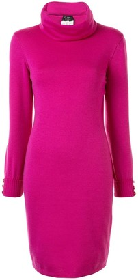 Chanel Pre Owned Funnel Neck Knitted Dress