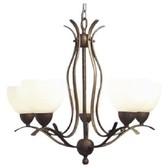 Bromarg 5 - Light Shaded Classic / Traditional Chandelier with Crystal Accents Winston Porter Finish: Matte Bronze