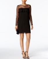 Jessica Howard Petite Illusion Ruffled Dress