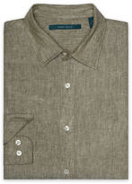 Perry Ellis Big and Tall Linen Chambray Shirt