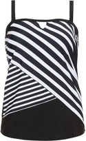 Cactus Plus Size Striped cut out tankini top