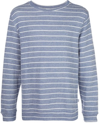 Onia owen herringbone stripe sweatshirt