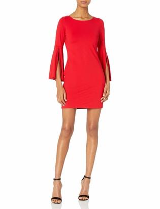 Susana Monaco Women's Arabella Long Sleeve Flare Cuffed Dress