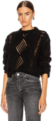 Amiri Cropped Sweater in Black | FWRD