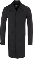 Cp Company P-lastic Black Water Resistant Hooded Trench Coat