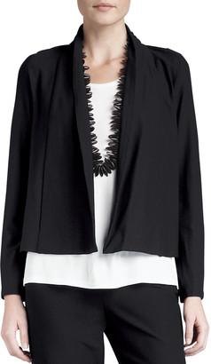 Eileen Fisher Washable-Stretch Crepe Short Jacket