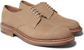 Grenson Curt Triple-welted Nubuck Derby Shoes