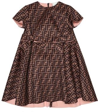 Fendi Kids FF satin dress