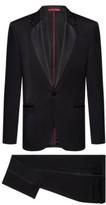 HUGO BOSS - Extra Slim Fit Tuxedo With Silk Trims - Black