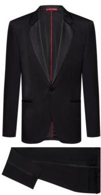 HUGO BOSS Extra Slim Fit Tuxedo With Silk Trims - Black