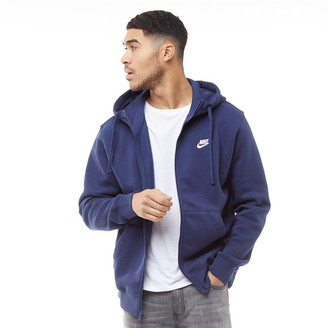 Nike Mens Sportswear Club Fleece Full Zip Hoodie Midnight Navy