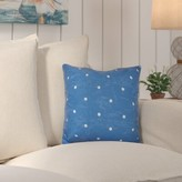 Beachcrest Home Asha Dorothy Dot Geometric Outdoor Throw Pillow Color: Turquoise