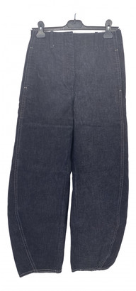 Lemaire Navy Cotton Jeans for Women