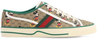 Gucci MICKEY MOUSE PRINT COTTON SNEAKERS