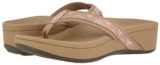 Vionic High Tide (Dusty Pink Chevron) Women's Sandals