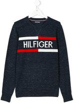 Tommy Hilfiger Junior intarsia logo jumper
