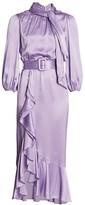 Cinq à Sept Bella Silk Belted Midi Dress