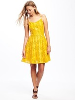 Old Navy Fit & Flare Eyelet Lace Dress for Women
