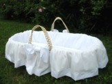 The Well Appointed House Lulla Smith 100% Cotton Cloud Moses Basket