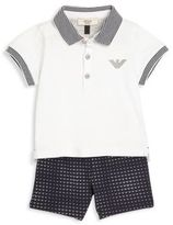 Armani Junior Baby's Two-Piece Polo & Shorts Set