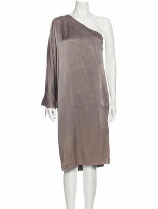 Christian Dior One-Shoulder Mini Dress Grey