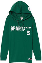 Victoria's Secret Victorias Secret Michigan State University Long Sleeve V-Neck Campus Tee