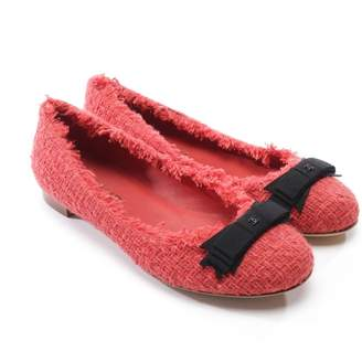 Chanel Red Tweed Ballet flats